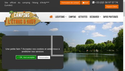 Site internet de Camping l'Etang d'Ardy