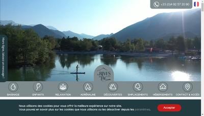 Site internet de SARL les Rives du Lac
