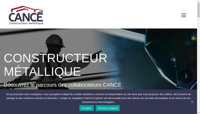 Site internet de Cance Constructions Metalliques