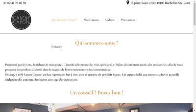 Site internet de Canon Canon