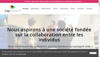 Site internet de Cap Collectif