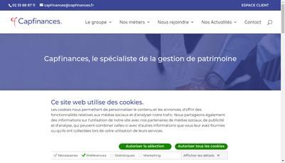 Site internet de Capfinances Credit