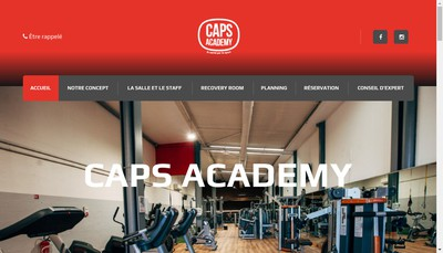 Site internet de Caps Academy