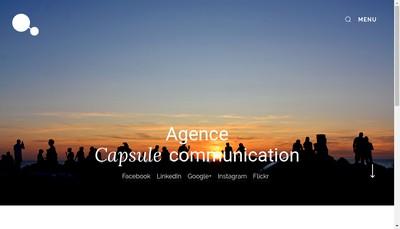Site internet de Capsule Communication