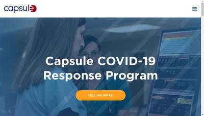 Site internet de Capsule Technologie