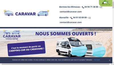Site internet de Caravar