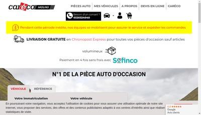 Site internet de Molins Creauto