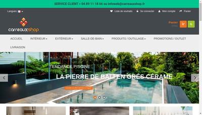 Site internet de Carreaux Shop