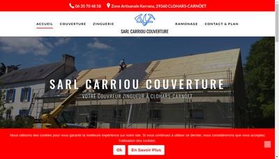 Site internet de Carriou Couverture