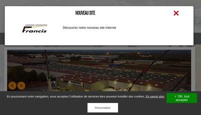 Site internet de Carrosserie Francis By Stephane Rodhain