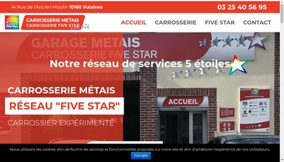Site internet de Carrosserie Metais