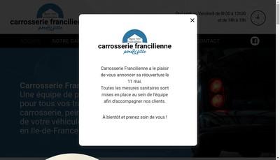 Site internet de Carrosserie Francilienne