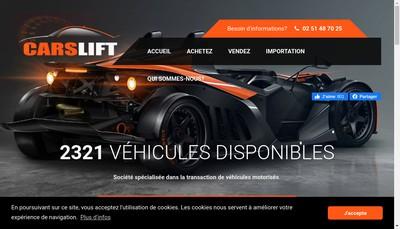 Site internet de Carslift