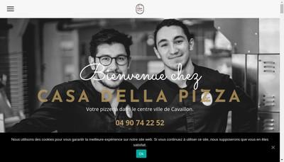 Site internet de Casa Della Pizza