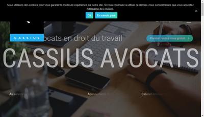 Site internet de Cassius Avocats