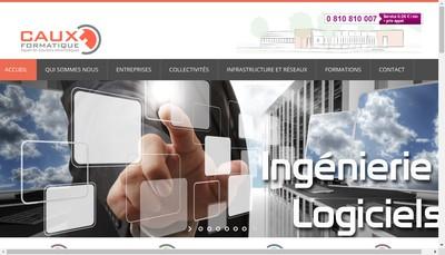Site internet de SARL Caux -Formatique