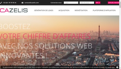 Site internet de Cazelis France