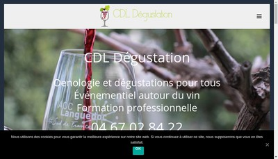 Site internet de Cdl Degustation
