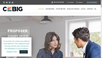 Site internet de Cebig
