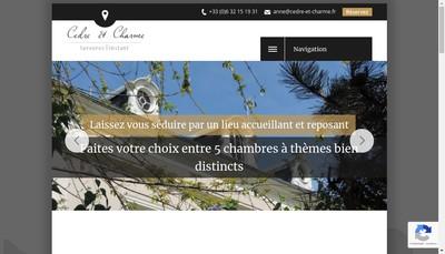 Site internet de Cedre et Charme