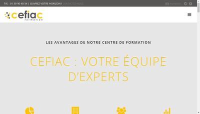 Site internet de Cefiac Formation