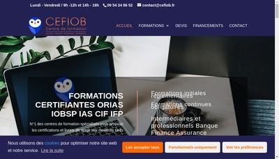 Site internet de CEFIOB