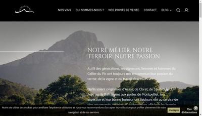 Site internet de Le Cellier du Pic