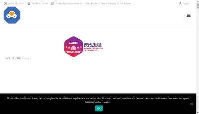 Site internet de Auto Ecole Celtic School