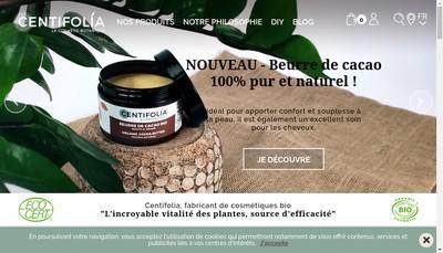 Site internet de Centifolia Bio par Nature