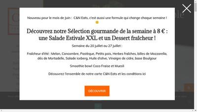 Site internet de C&N Traiteur