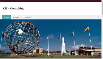 Site internet de Cfi Consulting