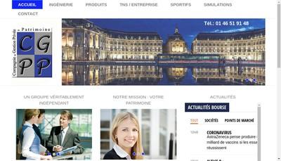 Site internet de Cie de Gestion Privee du Patrimoine