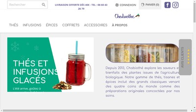Site internet de Cha-Bio-The