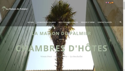 Site internet de La Maison du Palmier