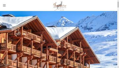 Site internet de Hotel au Chamois d'Or