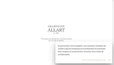 Site internet de Champagne Allart et Fils