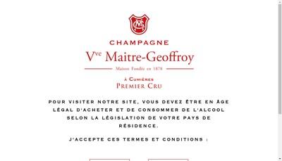 Site internet de Champagne Veuve Maitre Geoffroy