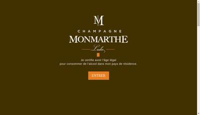 Site internet de Champagne Monmarthe