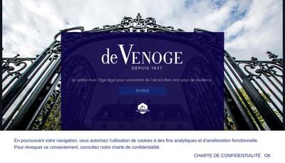 Site internet de Champagne de Venoge
