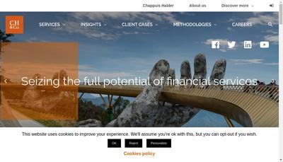 Site internet de Chappuis Halder & Cie