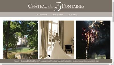 Site internet de Chateau des 3 Fontaines