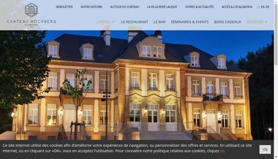 Site internet de Chateau Hochberg SAS