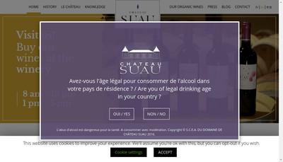 Site internet de SCEA du Domaine de Chateau Suau