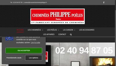 Site internet de Cheminees Philippe et Godin