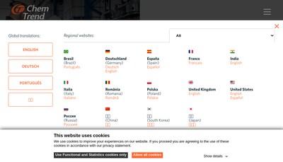 Site internet de Chem Trend France