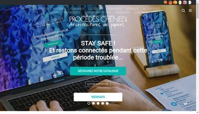 Site internet de Procedes Chenel International