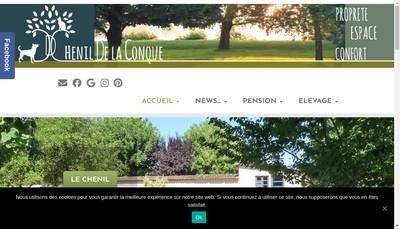 Site internet de Domaine de la Conque