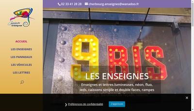 Site internet de Cherbourg Enseignes