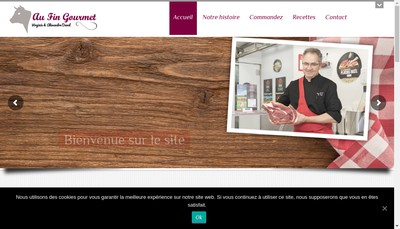 Site internet de Au Fin Gourmet