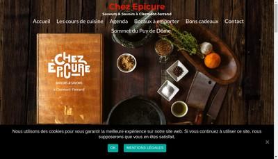 Site internet de Chez Epicure